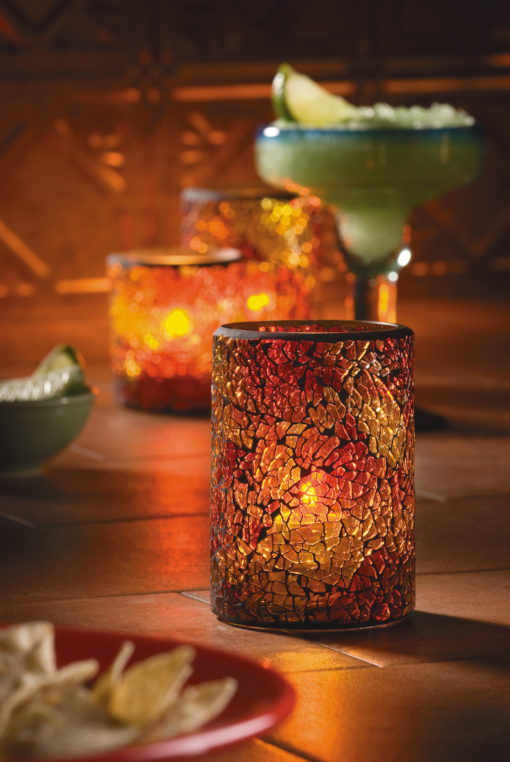 Suporte Linha Crackle Glass Cylinders